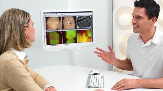 تشخیص پوسیدگی دندان با دستگاه ویستا کم