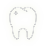 White teeth with bleaching 1-min